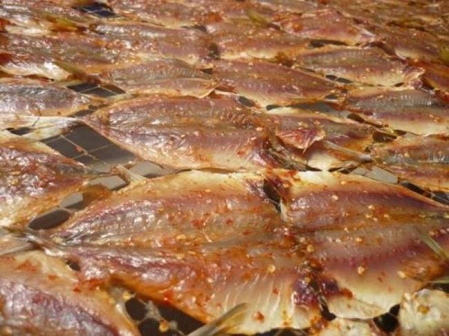Khô cá chỉ vàng được chế biến và bảo quản rất cẩn thận
